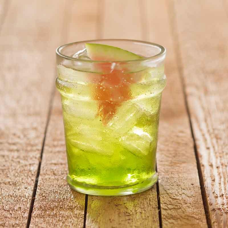 Shrub-Cocktail mit süss-saurer Wassermelone