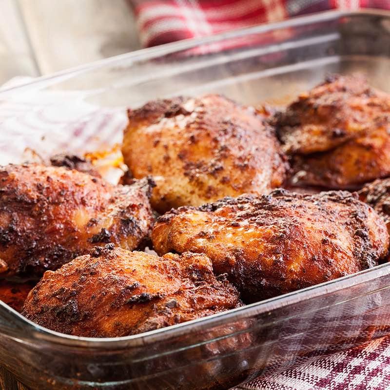 Cuisses de Poulet Rôties aux Herbes, Paprika et Gingembre