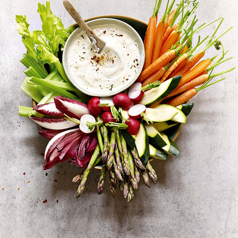 Gemüse-dip mit piri piri