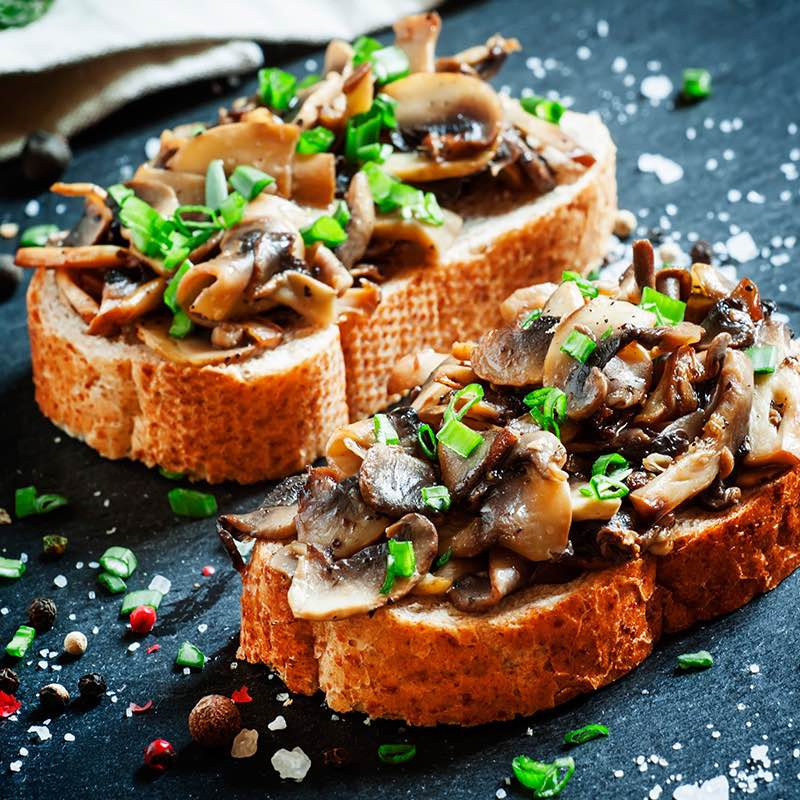 Pilze auf Toast