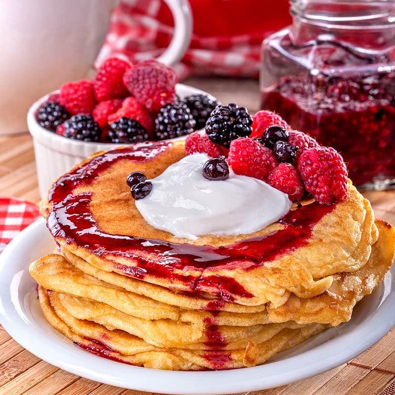 Himbeer-Zimt Pancakes