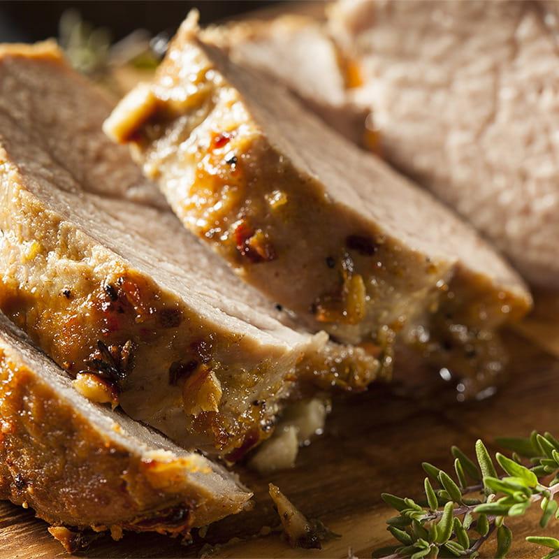 Filet de Porc à la Sauce à l'Orange et au Safran