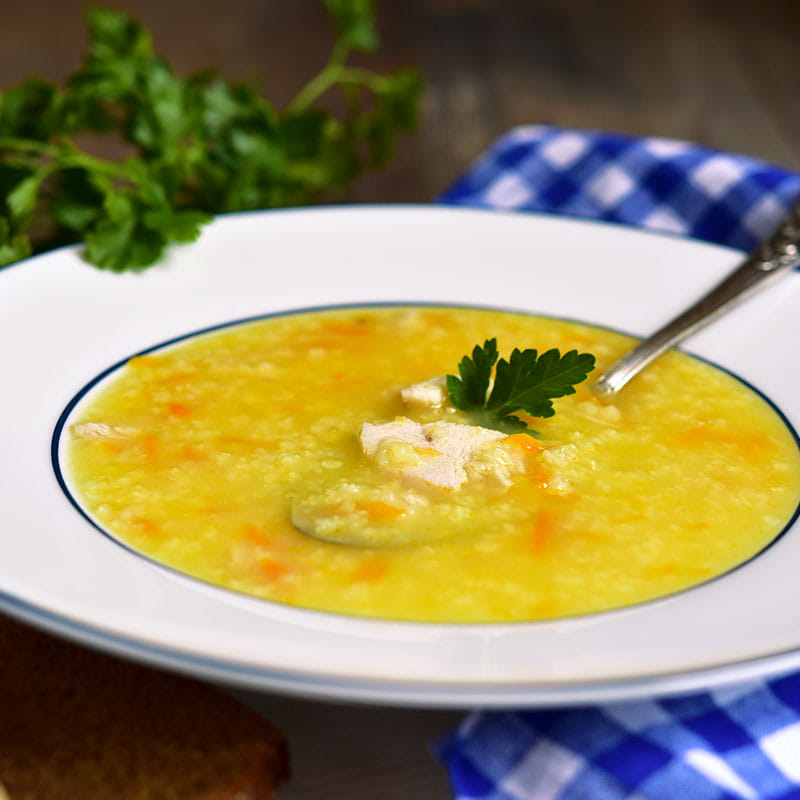 Couscous Suppe mit Tofu