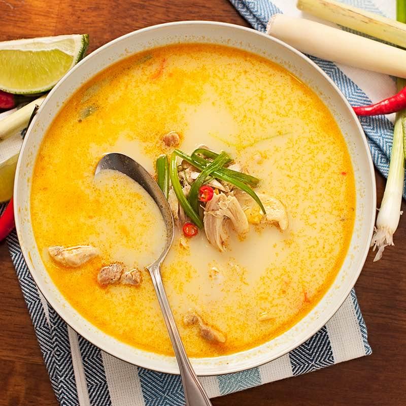Soupe de légumes au curry