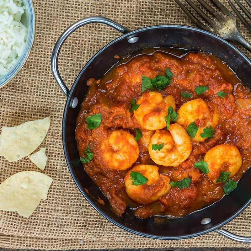 Curry de dinde et crevettes