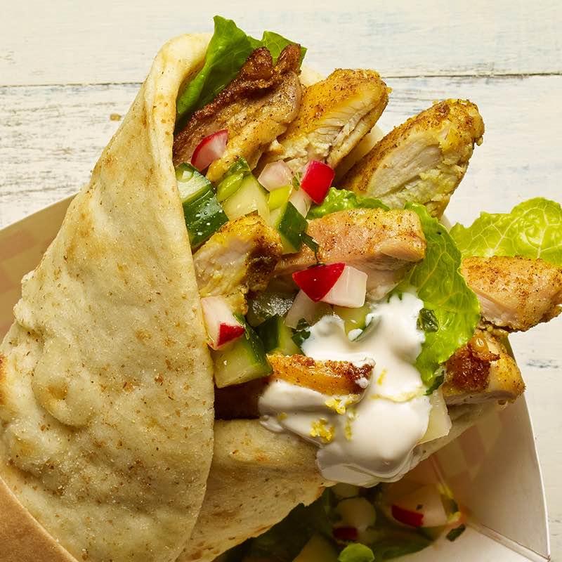 Poulet-Shawarma Wrap