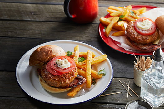 Chipotle Chicken and Bacon Burgers
