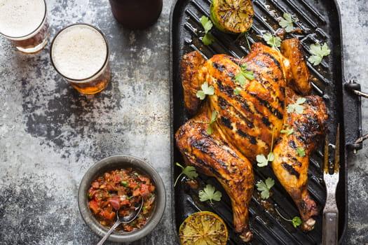Buttermilk & Chipotle BBQ Butterflied Chicken with Smokin' Texas Charred Vegetable Salsa