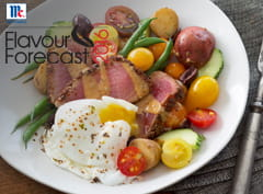 Niçoise Salad with Chia, Citrus and Chilli Crusted Tuna