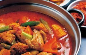A lot of spices are used to flavour the stew