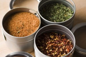 Spices can be used for visual flair