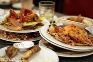 Food waste caused by preparing and serving too much