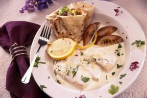The fish is flavoured with ginger and coriander