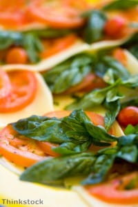 Basil is a delicious accompaniment for anchovies