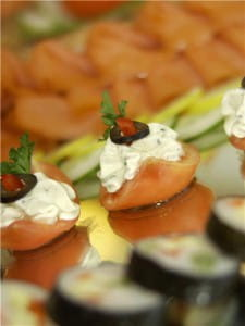 Herbs can characterise canapes