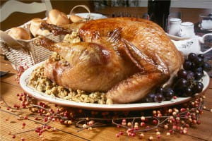 Turkey can be barbecued for a Christmas meal with a difference