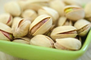 Pistachio nuts are low in calories