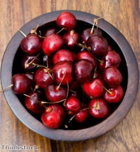 Herbs are a great way to season a cherry salad