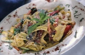 Chef Batali shares pasta dish with basil and parsley