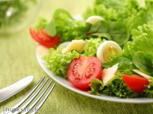 Green veg is ideal in spring