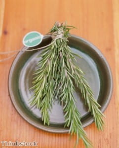 Venison can be roasted with rosemary