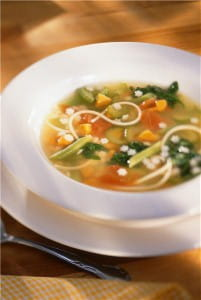 Herbs can make an aromatic soup