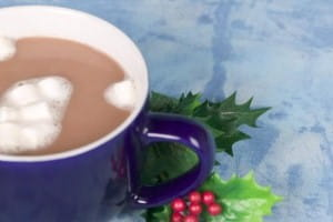 Nutmeg is the perfect finish on hot chocolate