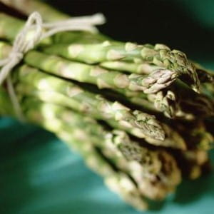 Asparagus can be flavoured with herbs to make a simple starter