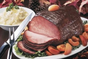 Gammon can be served with parsley sauce for a classic dish