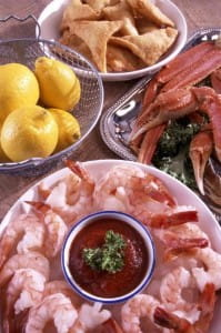Add spices to seafood dishes