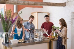Have a fun evening cooking with friends