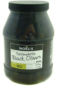Noels Stoneless Black Olives in Brine