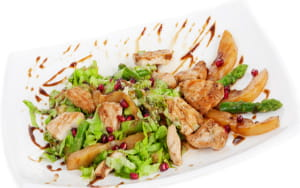 Chinese pork and pear salad
