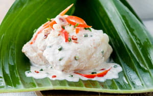 Monkfish with Coconut Milk and Chives