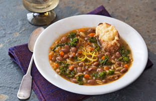 Cranberry Bean Sage and Orzo Soup