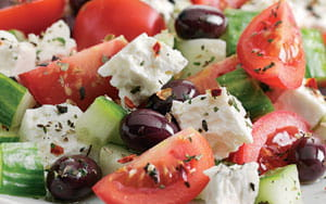 Greek Salad with Garlic Pitta