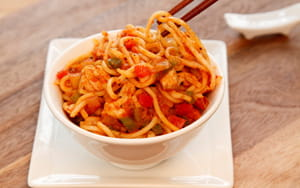 Pork with Chilli and Noodles - School Meal