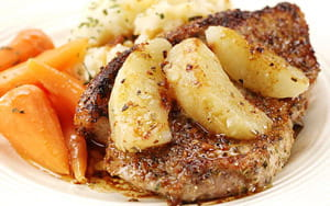 Pork Chops with Sage and Apple Sauce