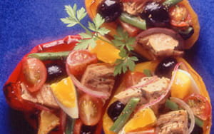 Roast Pepper and Tuna Salad