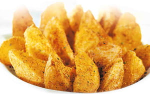 Baked Potato Wedges - School Meal