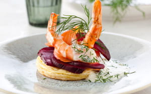 Smoked Salmon & Prawn with Dill & Beetroot