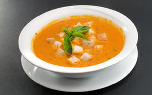 Spicy Italian Soup with Chunky Ciabatta Croutons