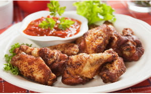 Thai Spiced Chicken Wings with Chilli Sauce