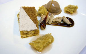 Cinnamon & hazelnut desert selection