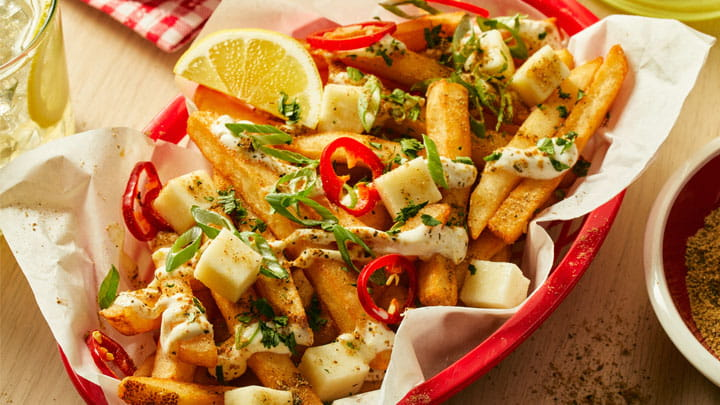 Chaat Masala + Lemon Loaded Fries