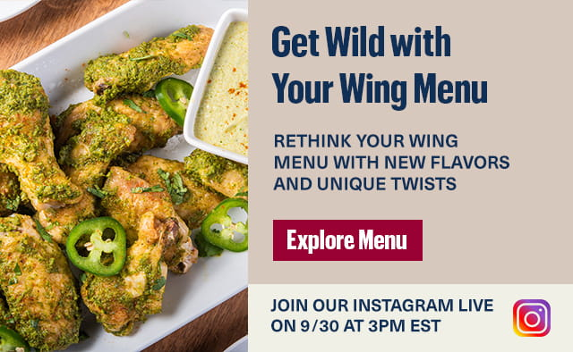 Get wild with your wings menu