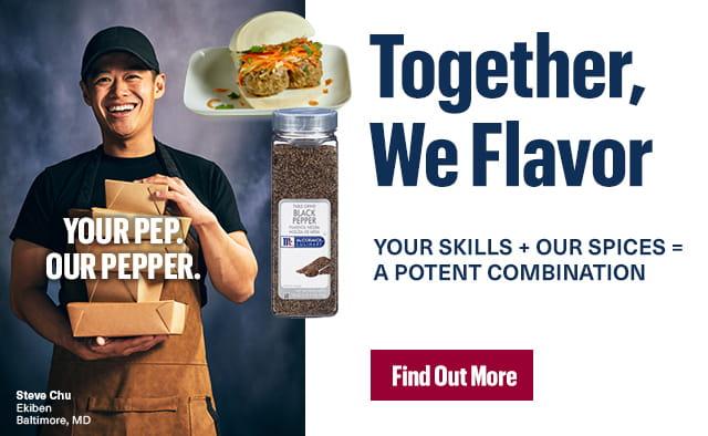 Together we Flavor. Steve Chu.