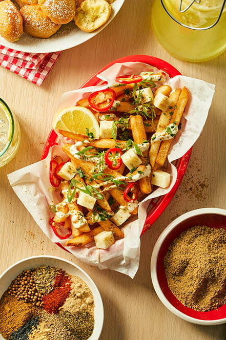 Chaat & Lemon Loaded Fries