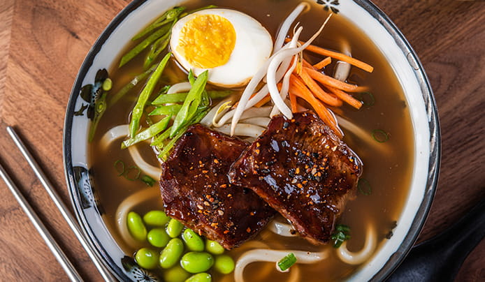 Spicy Short Rib Udon Soup