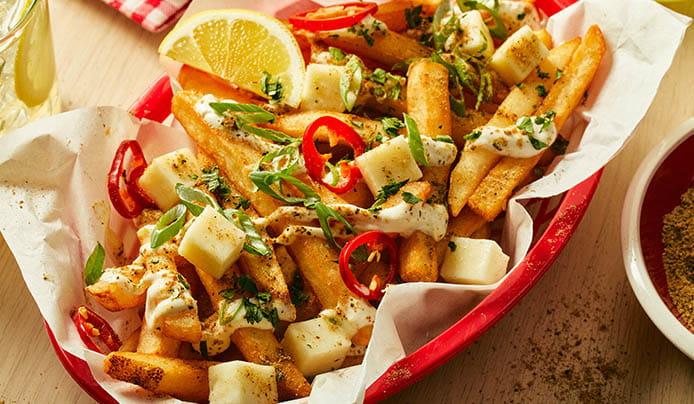 Chaat & Lemon Loaded Fries